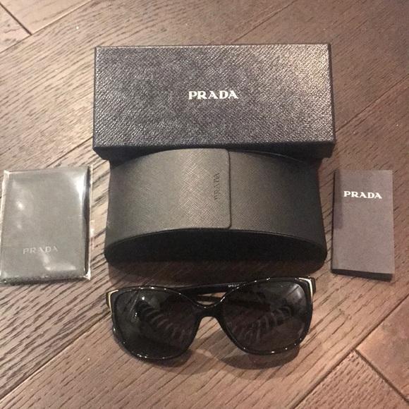 ed27459d8771 Prada Black Square Sunglasses. M 5a69487546aa7c95b6451894